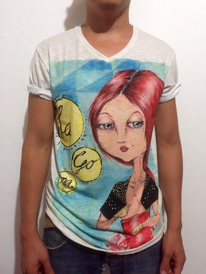 Camiseta Goma By SANTA #brand #tshirt #vector #illustration