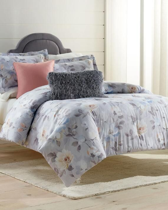 Christian Siriano 3 Piece Romantic Floral Comforter Set | Full/queen |  polyester