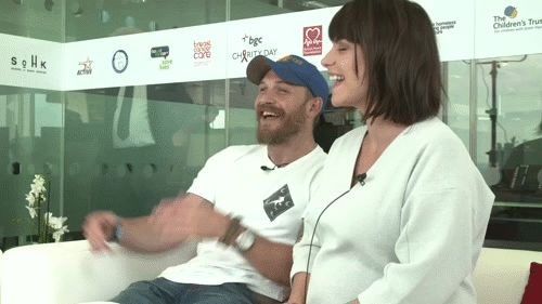 Tom Hardy and Charlotte RIley - Bowel Cancer UK | Charity Day London, England - September 11, 2015.
