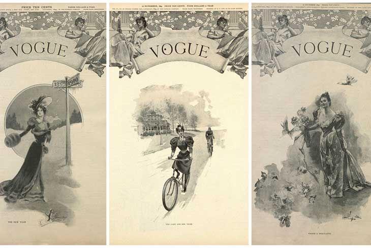 Alcune copertine storiche di Vogue, la più nota rivista di moda al mondo che con i suoi articoli e le immagini pubblicate influenza e racconta lo stile che cambia.