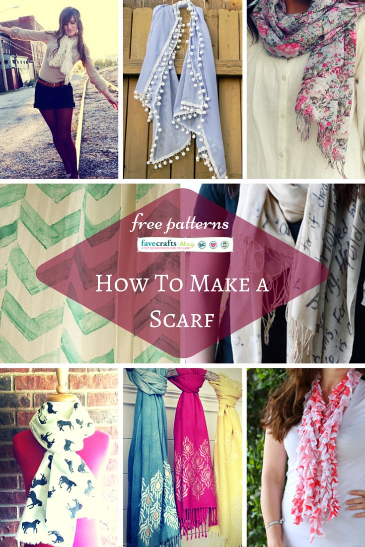 Link Love: How to Make a Scarf for Spring or Summer