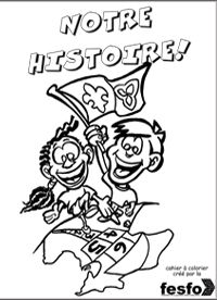 a colouring book telling the Franco_Ontarian history gr 3 - 6