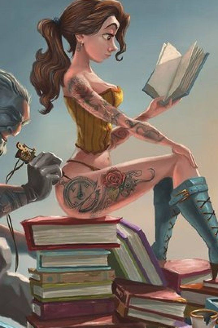 Disney Princesses Reimagined As Tattooed Pin-Ups Is Pretty Badass