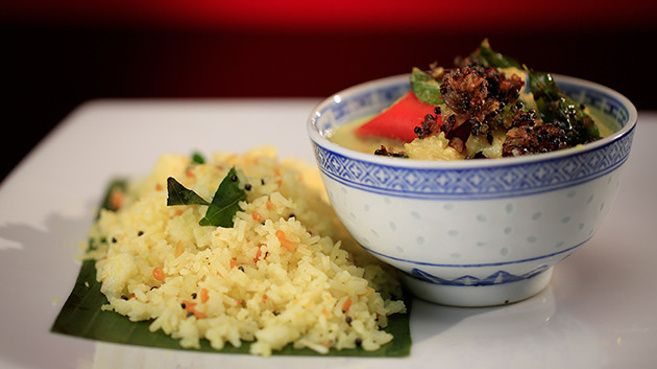 Keralan Fish Moilee with Lemon Rice