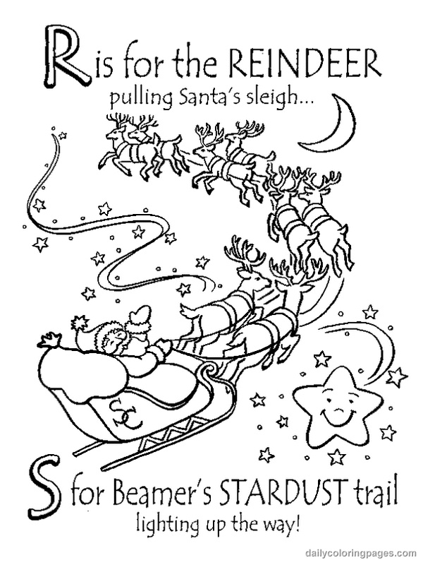abc christmas coloring pages - photo#14