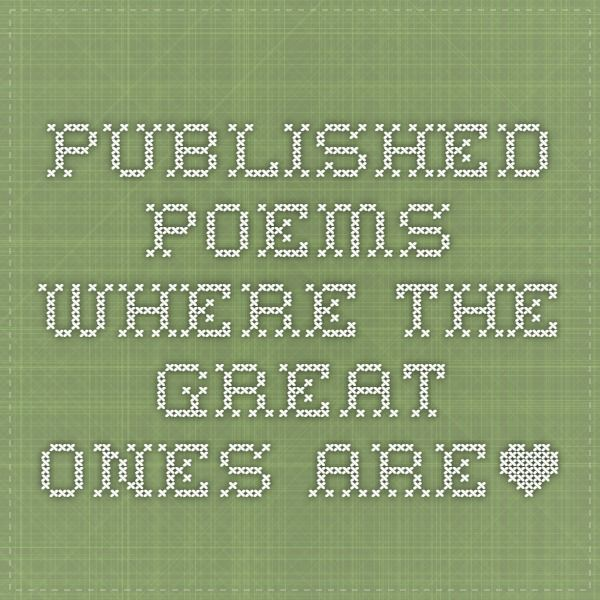 Published Poems - WHERE THE GREAT ONES ARE*  @ Baseball Bard : The Poetry of the Game