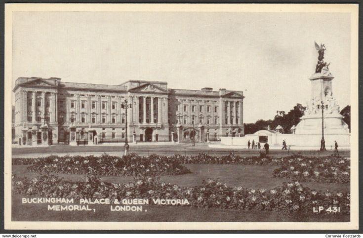Buckingham Palace & Queen Victoria Memorial, London, c.1920 - Lansdowne Postcard
