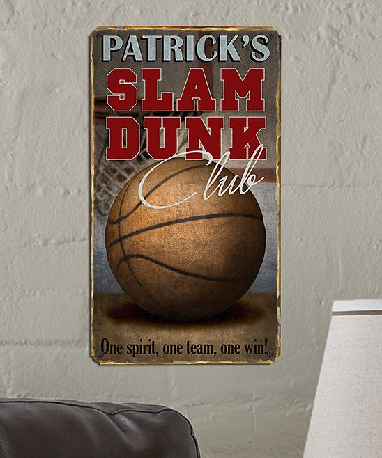 'slam Dunk Club' Personalized Metal Sign