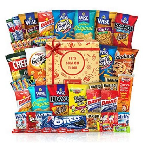 Snack Chips Gift Set Party Box Bundle Care Package 50 Count College Military Kid #Duogreen #AnyOccasion
