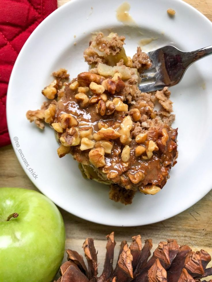 APPLE PIE BAKED PROTEIN OATMEAL (VEGAN) – No Excuses Nutrition