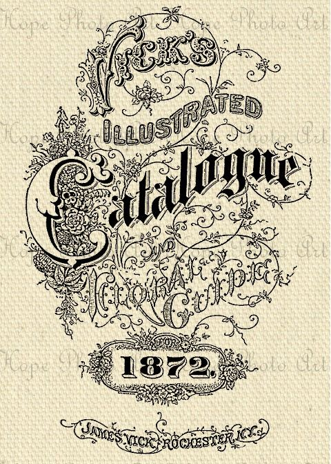 Vintage Catalogue 1872 Advertisement Image Transfer - Burlap Feed Sacks Tote Bags Pillows Towels greeting cards - U Print JPG 300 dpi