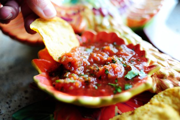 Simple, perfect salsa. The best in the world! I'm making a whole bunch before the big game next weekend.