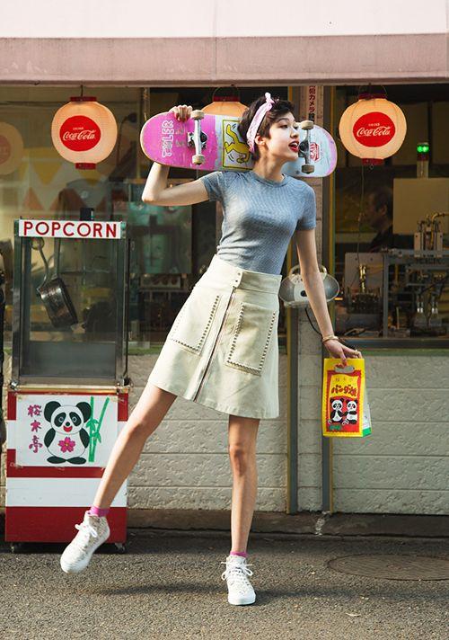 70年代ムード。人気の台形スカートおすすめ一覧♡トレンドの着こなしの参考にどうぞ♡