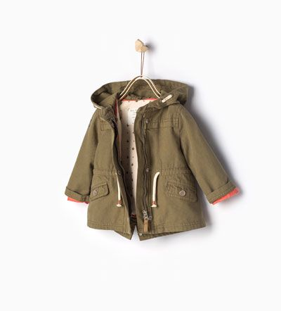 Image 1 of Parka with detachable lining and hood from Zara