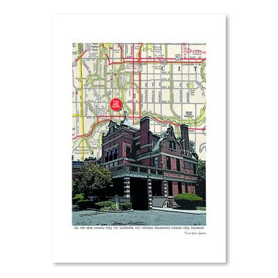"East Urban Home Kansas City Art Institute by Lyn Nance Sasser and Stephen Sasser Graphic Art Size: 16"" H x 12"" W"