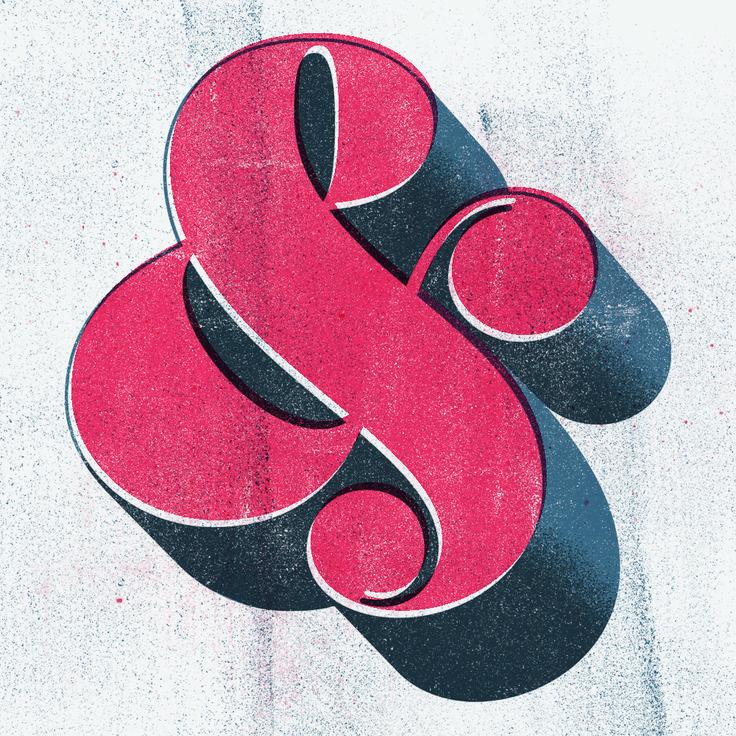 // Ampersand – Retro print imitation