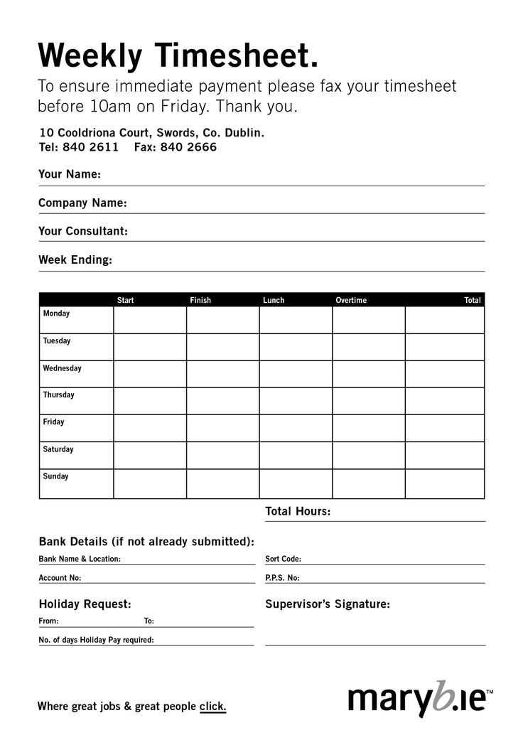 7 best Time sheets images on Pinterest | Daycare forms, Business ...