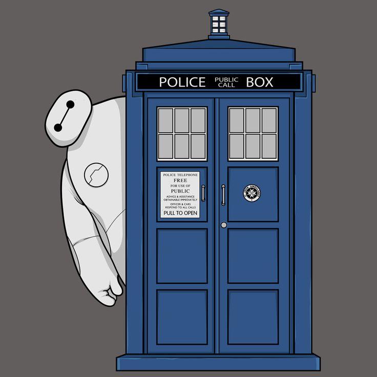 Big TARDIS Hero T-Shirt $12 Big Hero 6 tee at Blue Box Tees!