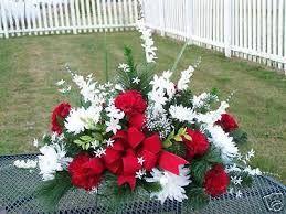 Image result for how to make silk flower arrangements for graves