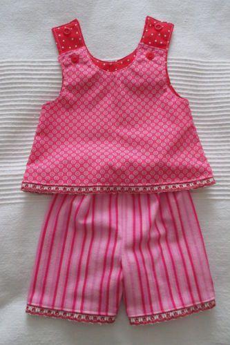 Puppenkleidung-Puppensachen-BabyBorn-43cm-Tunika-wadenlange-Hose-Puppenbekleidun
