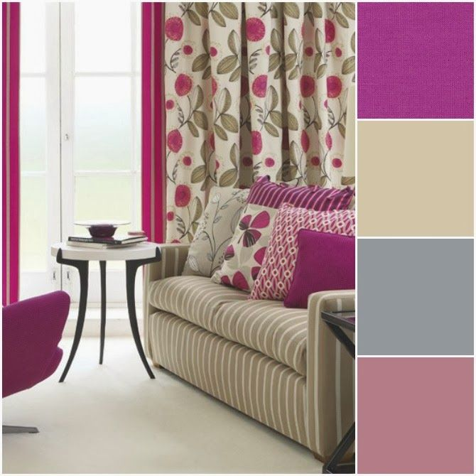Color Of The Year Radiant Orchid Purple Living RoomsLiving Room