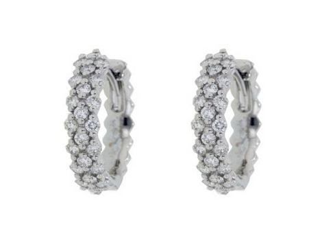 #diamond hoop #earrings with forty-four #brilliant cut #diamonds weighing a total of 0.60ct in claw settings | #thomasjewellers