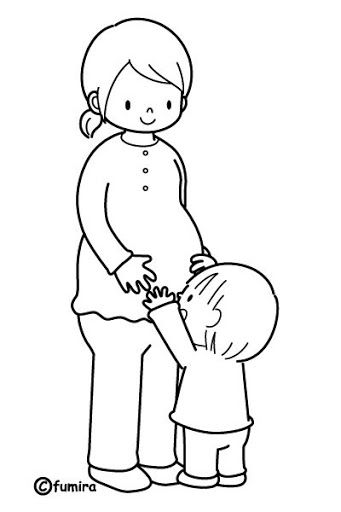 Mother pregnant - free coloring pages | Coloring Pages