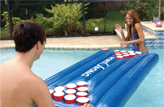 Port-O-Pong - Inflatable Beer Pong Table: Floating Beer, Portopong Inflatable, Idea, Beerpong, Inflatable Beer, Summer, Pools Parties, Beer Pong Tables, Pools Beer