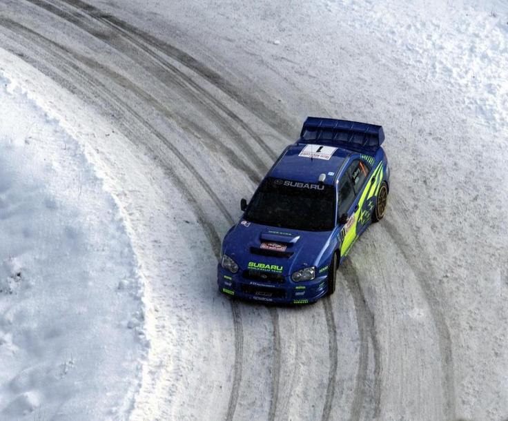 Subaru Impreza on snowy road