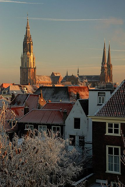 Delft, Netherlands ~beautiful little city where blue & white Delftware is produced.