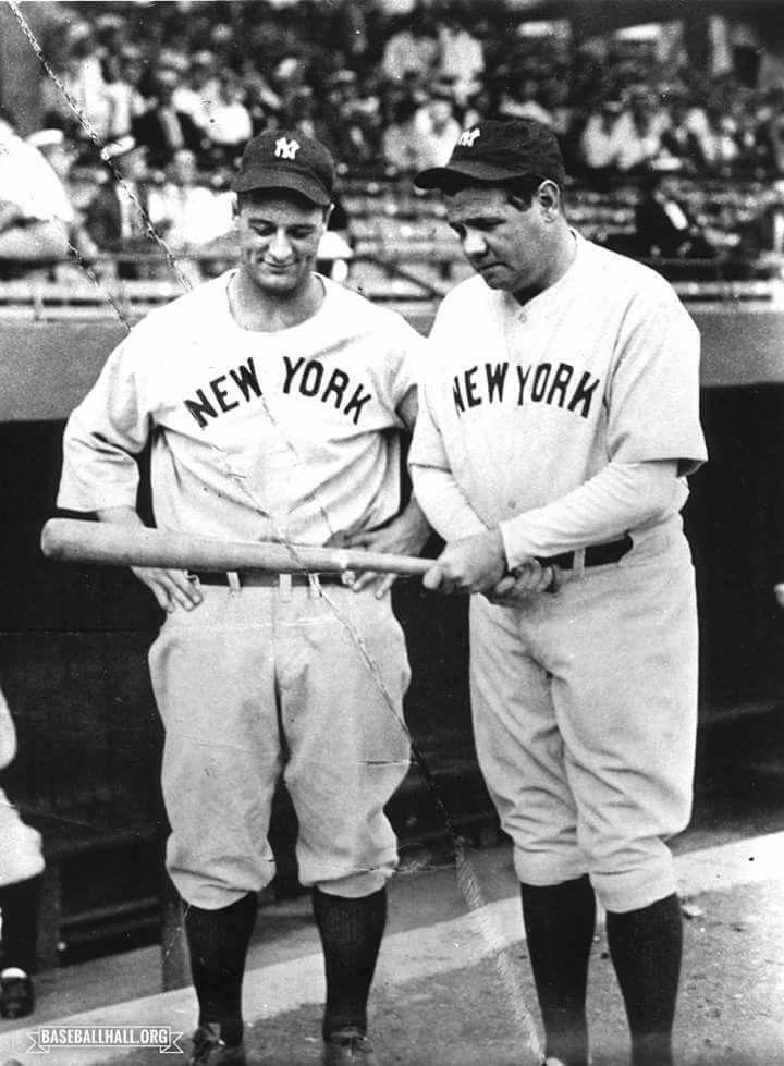 Gehrig And Ruth Baseball History Vintage Baseball Babe Ruth