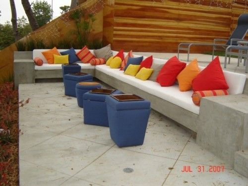 I would love to build some permanent cement seating for our huge patio.  Then I can change the pillows and colors when I get tired of them, but don't have to worry about replacing patio furntiure every few years when the sun destroys it.