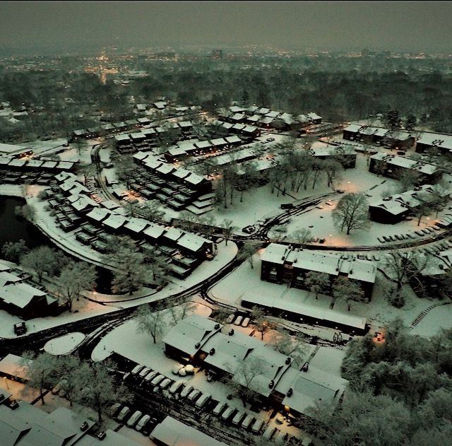Check out our #winter wonderland of a community from above! Absolutely beautiful. Happy to call Haven on the Lake HOME!