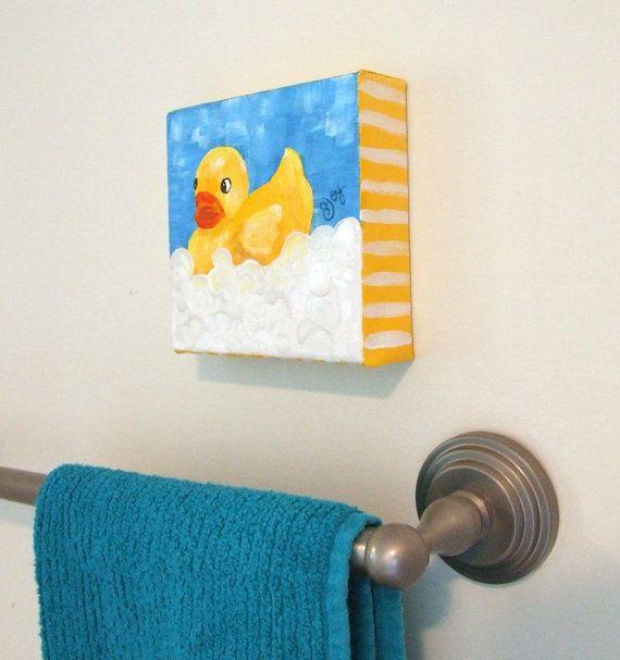 Rubber Duck Bubble Bath.  I call this bathroom decor :)