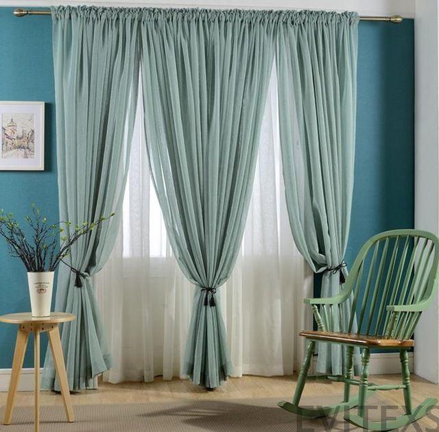 nueva caliente venta cortinas acabadas para windows gasa tul pura cortina bordada cortinas modernas para sala