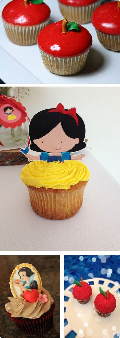 παρτυ για κοριτσια χιονατη cupcakes - Snow White Party Ideas
