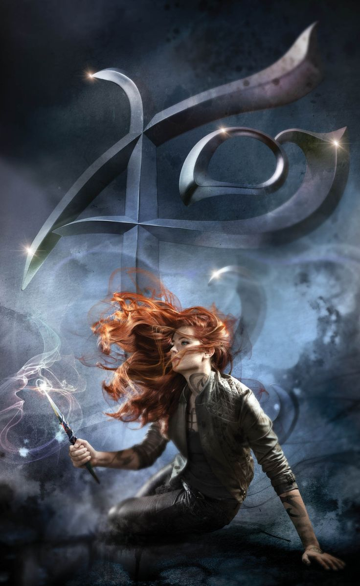 New City of Ashes cover art: Clary with Fearless rune