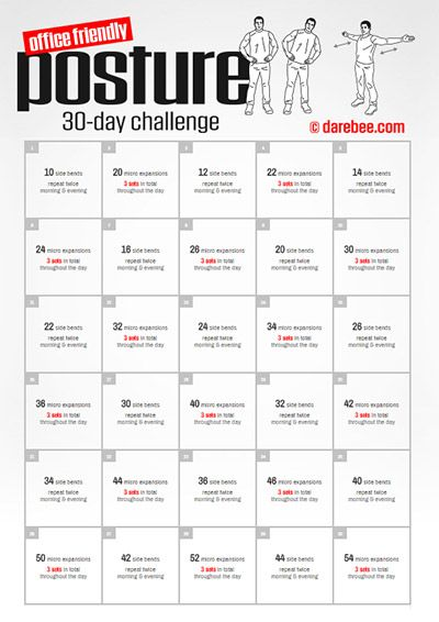Office Friendly Posture 30 Day Challenge.