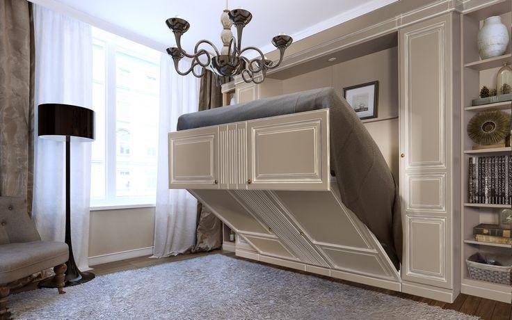 les 25 meilleures id es de la cat gorie lits escamotables. Black Bedroom Furniture Sets. Home Design Ideas