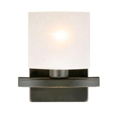 Hampton Bay Ettrick 1 Light Oil Rubbed Bronze Wall Sconce DTH1311A 4 At