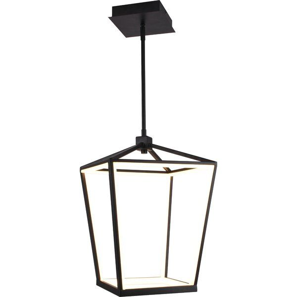 Mullenax 1 Light Lantern Square Led Pendant In 2020 Lantern Lights Modern Lanterns Lanterns