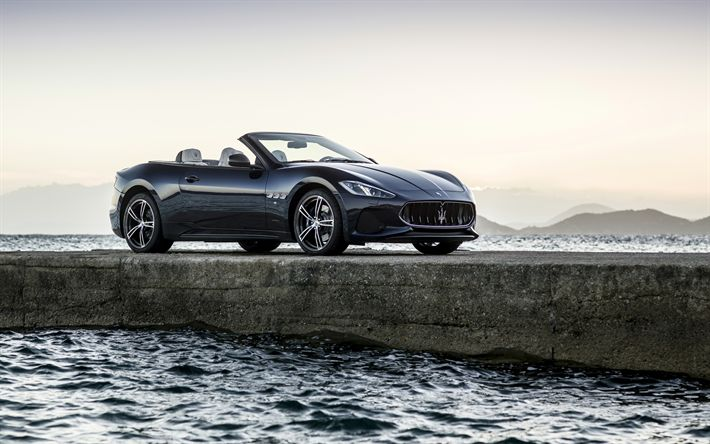 Lataa kuva 4k, Maserati GranCabrio, 2017 autot, laituri, cabrioletteja, Maserati