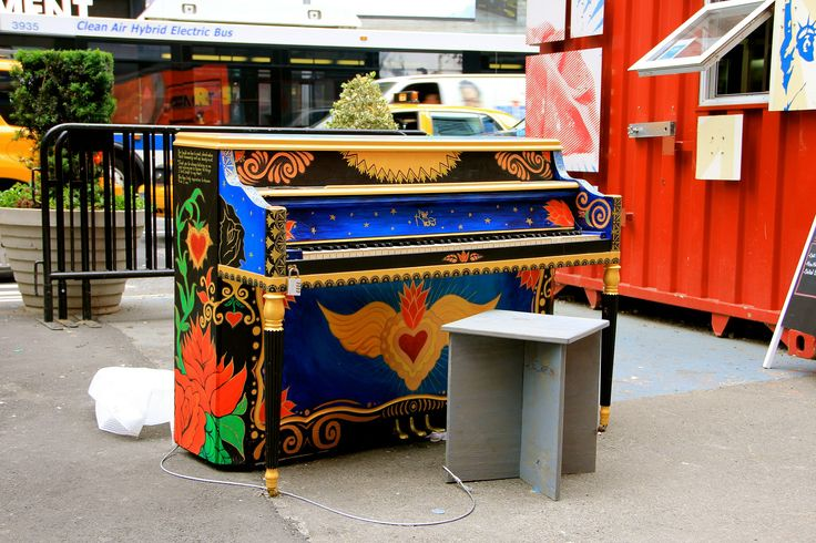 Colored Piano at TimeSquare   Flickr - Photo Sharing!