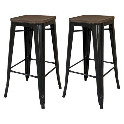 black wood counter stools threshold hampden 24 quot industrial counterstool with wood 4770