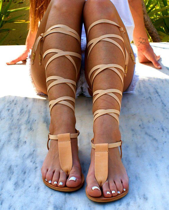 IRINI leather gladiator sandals ancient Greek sandals lace