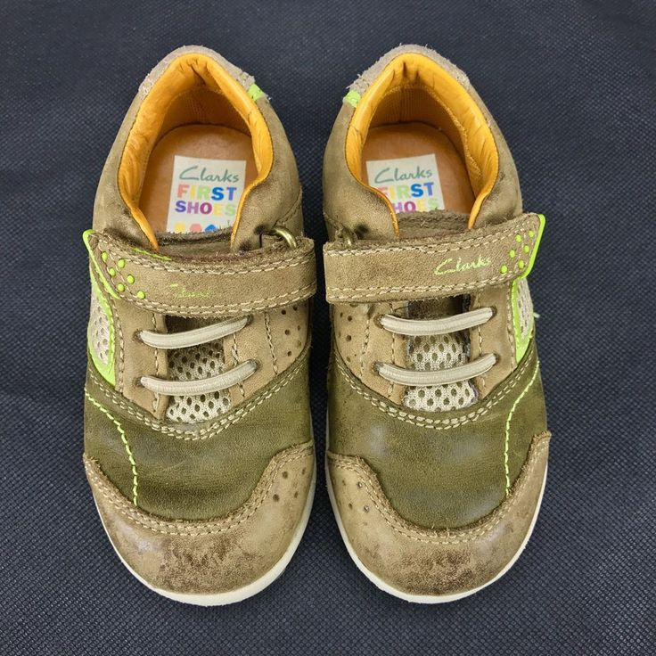 Clarks boys my First Shoes size 5.5h infant toddler 5½h kids trainer quality