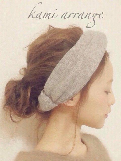 ニット素材のヘアバンド