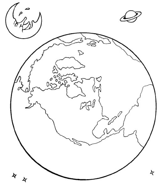 Coloring Picture Earth : Earth coloring sheet. free printable earth coloring pages for kids