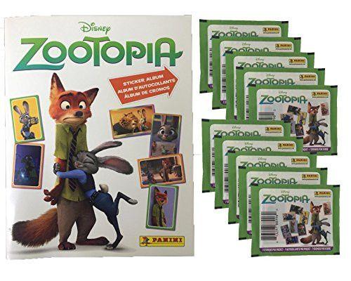 Panini Disney Zootopia Sticker Album PLUS 10 Sticker Packs