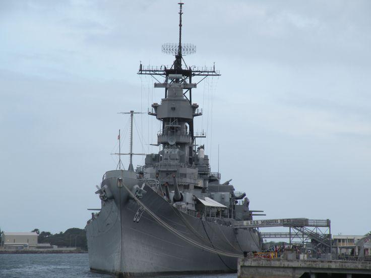 Missouri Battleship in Pearl Harbor